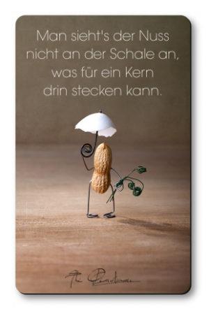 """Magnethaftkarten - Motiv """"Harte Schale - weicher Kern""""-0"""