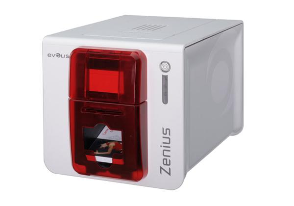 Evolis Zenius Expert Line Smart und Contactless Dual smart Card Fire Red-0